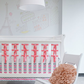 Oliver B OBC0101 City of Dreams 3-Piece Crib Bedding Set - Pink