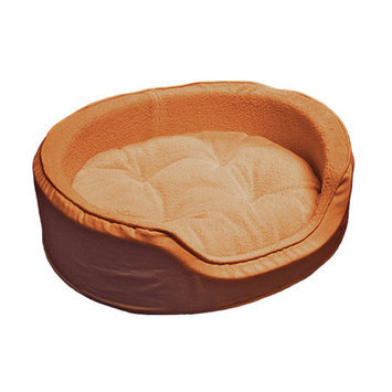 Furhaven Snuggle Terry and Suede Pet Bed Size: Large - 26
