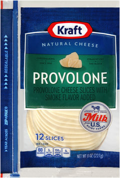 Kraft Natural Cheese Provolone Cheese Slices 12 ct ZIP-PAK®