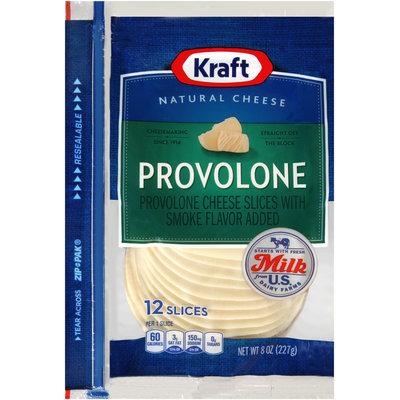 Kraft Natural Cheese Provolone Cheese Slices 12 ct ZIP-PAK®