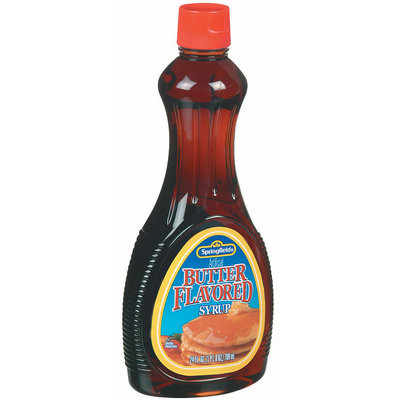 Springfield Butter Flavored Syrup 24 Oz Plastic Bottle