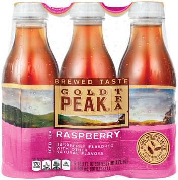 Gold Peak® Raspberry Iced Tea 6-16.9 fl. oz. Plastic Bottles