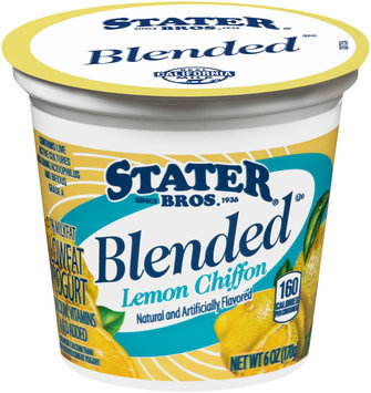 Stater Bros.® Blended Low Fat Lemon Chiffon Yogurt 6 oz. Cup