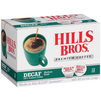 Hills Bros® Decaf Medium Roast Coffee 12-4.0 oz. Box