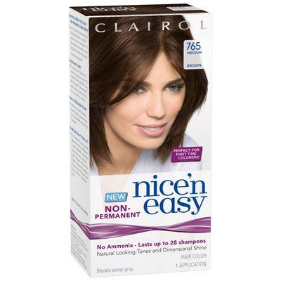 Clairol Nice 'n Easy Non-Permanent  765 Medium Brown Hair Color Kit