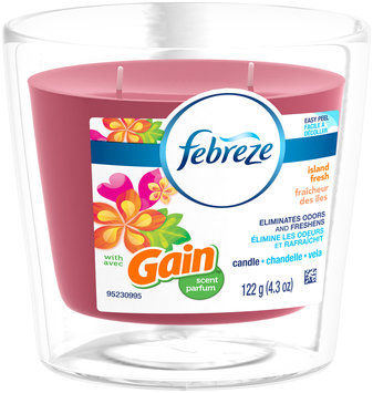 Candle Febreze Scented Candle with Gain Island Fresh Air Freshener (1 Count, )