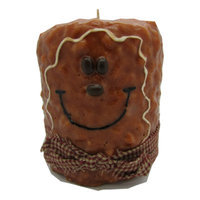 Starhollowcandleco Gingerbread Man Pillar Candle Size: Tall Fatty 6.5