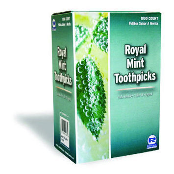 Royal Toner Mint Cello-Wrapped Wood Toothpicks in Natural