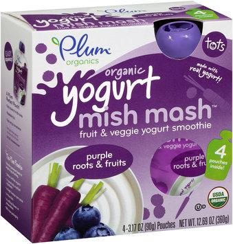 Plum Organics® Tots Mish Mash™ Yogurt Purple Roots & Fruits Fruit & Veggie Smoothie 4-3.17 oz. Pouches