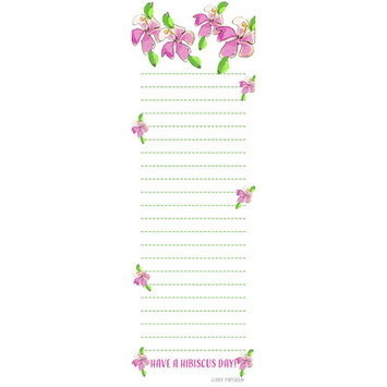 Giddy Paperie Hibiscus Notepad (Set of 20)