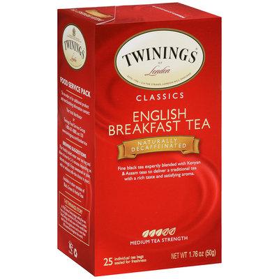 Twining's Classics English Breakfast Tea Naturally Decaffeinated 25 bags