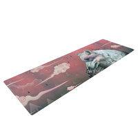 Kess Inhouse Lone Wolf by Mat Miller Yoga Mat