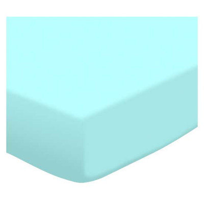 Stwd Solid Jersey Knit Mini Fitted Sheet Color: Aqua