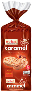 mother's® caramel fat free popped corn and whole grain rice cakes