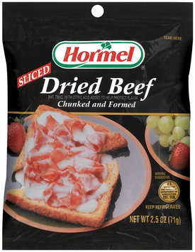 HORMEL Sliced Chunked & Formed Dried Beef 2.5 OZ PEG