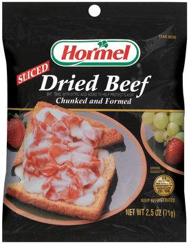 HORMEL Sliced Chunked & Formed Dried Beef 2.5 OZ PEG
