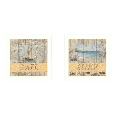 Trendy Decor 4u Dee Dee 'Sail/Surf' Framed Print Art