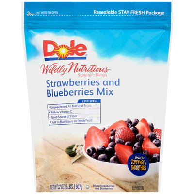 Dole® Wildly Nutritious® Signature Blends Strawberries and Blueberries Mix 32 oz. Bag