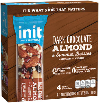 Init™ Dark Chocolate, Almonds & Summer Berries Nut & Fruit Bars 4-1.41 oz. Bars