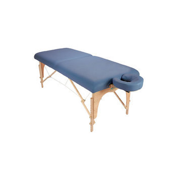 Customcraftworks Athena Table with Carry Case Color: Agate Blue
