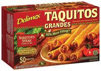 Delimex Shredded Steak Taquitos Grandes 50 Ct Box