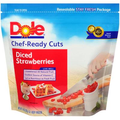 Dole® Chef-Ready Cuts Diced Strawberries 14 oz. Bag
