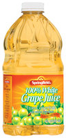 Springfield 100% White Grape Juice 64 Fl Oz Plastic Bottle