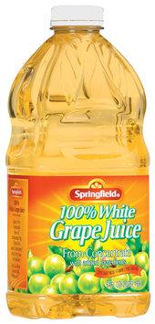 Springfield 100% White Grape Juice 64 Fl Oz Plastic Bottle