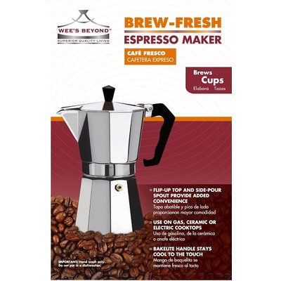 Wee's Beyond Brew-Fresh Espresso Maker Size: 6 Cups