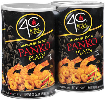 4C® Plain Panko Japanese Style Bread Crumbs 2-25 oz. Canisters