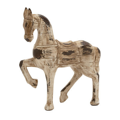 Benzara 76260 Polystone Horse