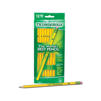 Dixon Ticonderoga Co. Dixon Ticonderoga Pencils Yellow Pencil, #3 Hard Lead, Dozen