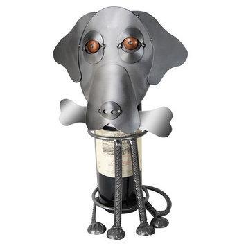 H & K Sculptures Labrador Dog 1 Bottle Tabletop Wine Rack