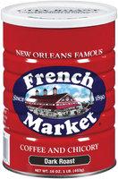 French Market & Chicory Dark Roast Ground Coffee 16 Oz Canister