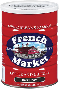 French Market & Chicory Dark Roast Ground Coffee 16 Oz Canister