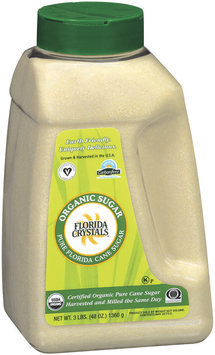 Florida Crystals Organic Cane Sugar 48 Oz Shaker
