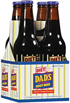 Dad's Old Fashioned® Diet Root Beer 4 ct 12 oz