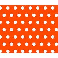 Stwd Polka Dots Crib Sheet Color: Orange