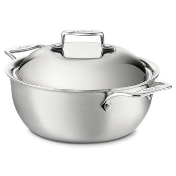 Williams Sonoma All-Clad d5 Brushed Stainless-Steel 5 1/2-Qt. Dutch Oven | Williams