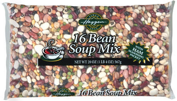 Haggen 16 Bean W/Ham Seasoning Packet Soup Mix 20 Oz Bag