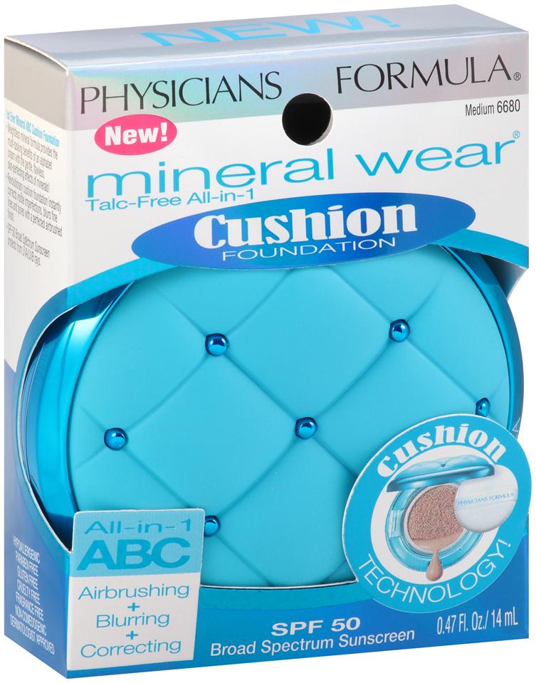 Physicians Formula® Mineral Wear® Talc-Free All-in-1 Cushion Foundation Medium 6680 0.47 fl. oz. Box