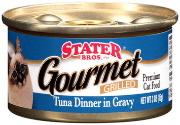 Stater Bros.® Gourmet Grilled Tuna Dinner in Gravy Premium Cat Food 3 oz. Can