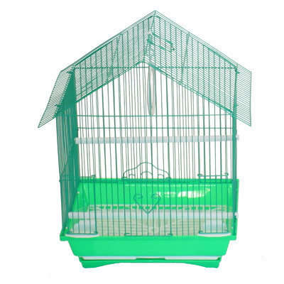 Yml House Top Style Small Parakeet Cage With Food Access Doors Color: Green