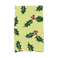 E By Design Jump for Joy Allover Holly Hand Towel Color: Green