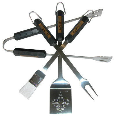 Siskiyou Products New Orleans Saints Four Piece Barbeque Set