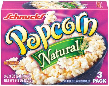 Schnucks Natural 3.3 Oz Popcorn 3 Ct Box