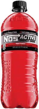 NOS Active Energy Drink Fruit Punch 22 fl. oz. Plastic Bottle