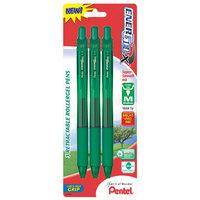 Pentel Of America 0.7mm Green Needle Point Gel Pen BL107BP3D