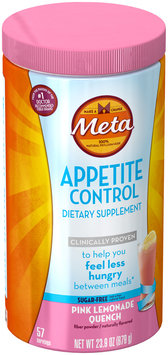 Appetite Control Meta Appetite Control Dietary Supplement, Sugar-Free Pink Lemonade Quench, 57 servings