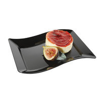 Fineline Settings, Inc Wavetrends Rectangle Dessert Plate (Pack of 120), Black